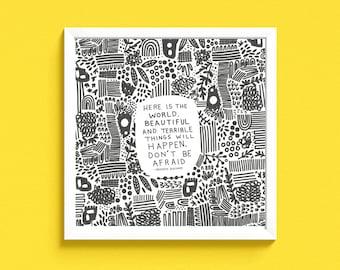 """Beautiful and Terrible in print 8x8"""" DIGITAL FILE"""