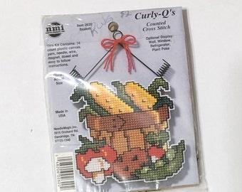 Cross stitch plastic canvas veggies ornament kit