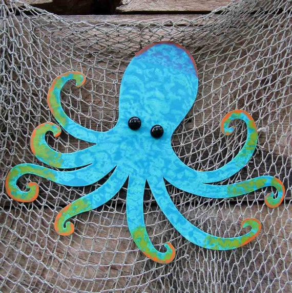 Octopus Art Metal Wall art Sealife Beach House Wall Art