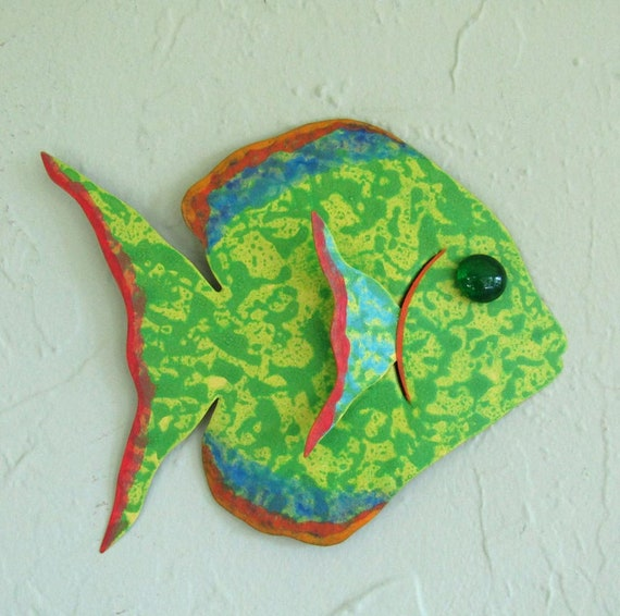 Fish Art For Bathroom Patio Metal Wall Art Tropical