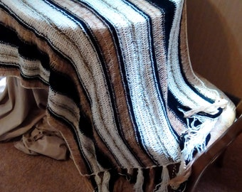 Hairpin Lace throw blanket