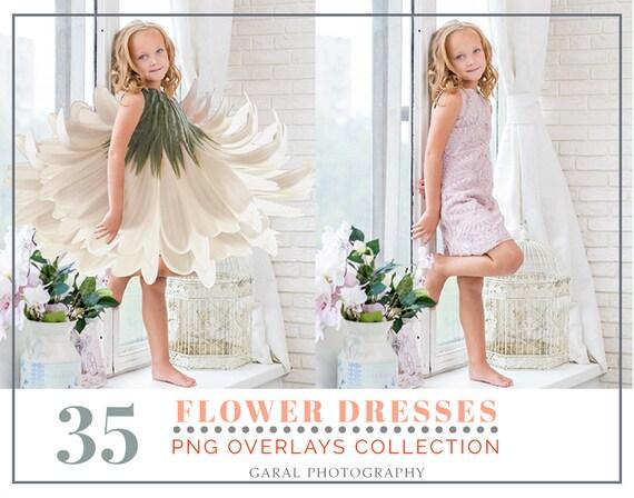 Flower Dresses And Skirts Photoshop Overlays Dress Overlays Etsy