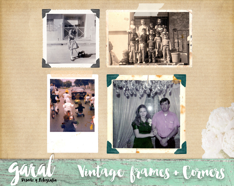 Vintage-Fotografie-Rahmen PNG-Dateien Photoshop-Overlay   Etsy