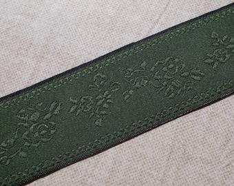 Tablecloth Corded Satin Edging Round Vintage Satin Burgundy and Hunter Green Velvet Filigree Pattern