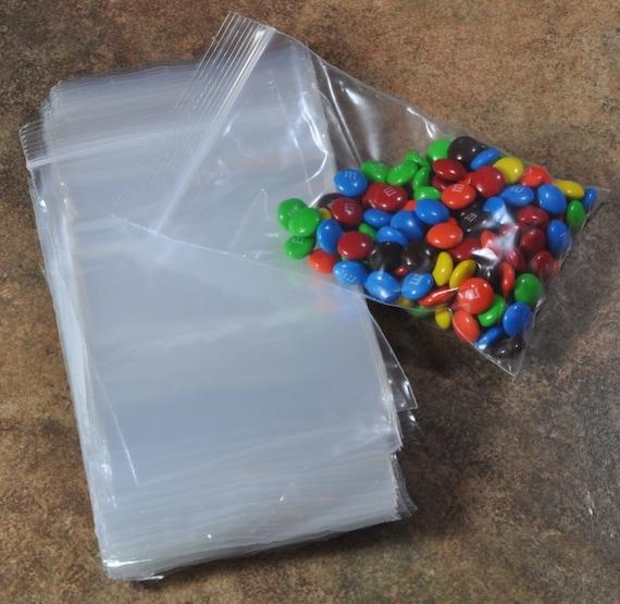 100 Reclosable 3x5 Transparent Plastic Zip Bags 17-52-150