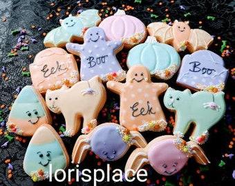 Pastel Halloween Cookies - 14 Cookies