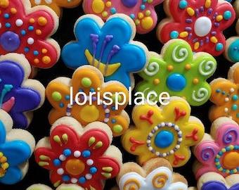 """Flower Cookies - 2 1/2 """" -  12 Cookies"""