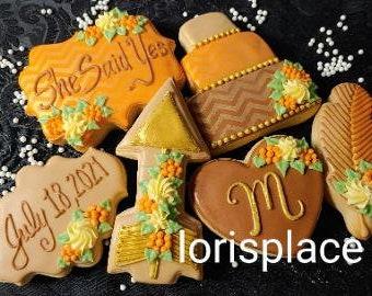 Boho Bridal Shower Cookies - Boho Wedding Cookies -