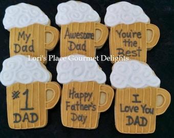 Beer Mug Cookies - Personalized Beer Mug Cookies - 12 Cookies