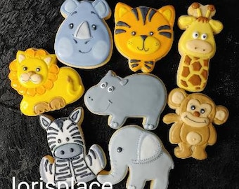Safari Animal Cookies - 16 - Cookies