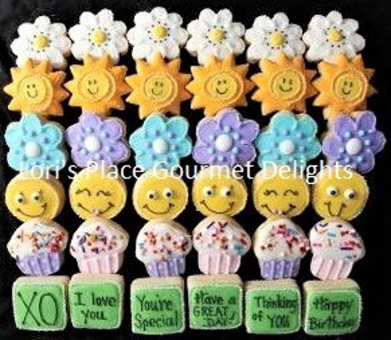 36 Mini Birthday Cookies