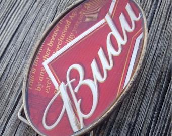 SALE    Labeled Belt Buckle Budweiser