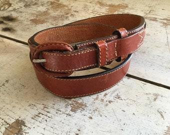 Jordache leather skinny belt