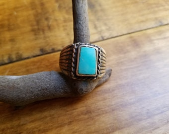 Men's sterling silver tuquoise ring