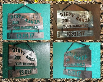 Dirty Kanza Finishers Plaque