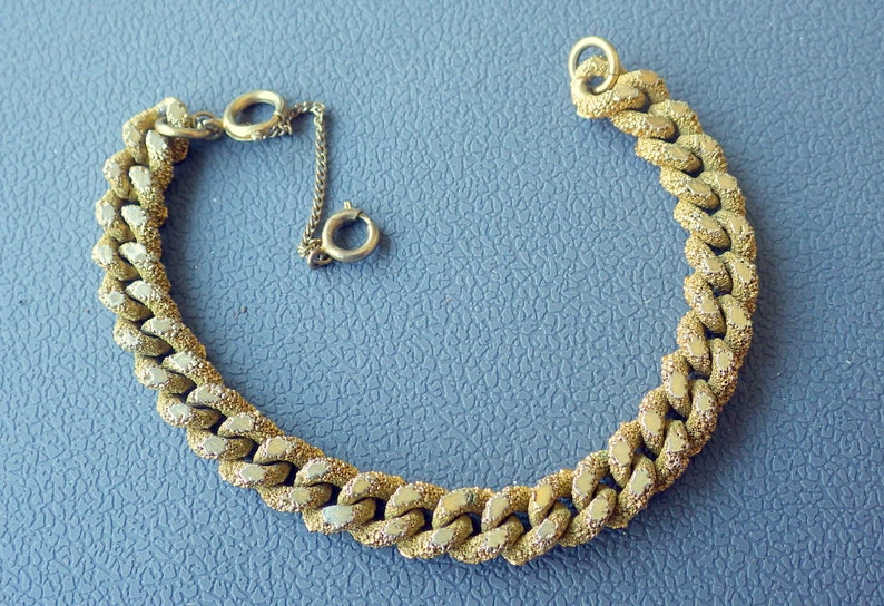 Victorian Gold Rush Bracelet - Faux Gold - Chunky Link Style