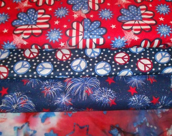 edf962567db PATRIOTIC #3 Fabrics, Sold INDIVIDUALLY not as a group, by the Half Yard