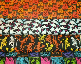 Clearance HALLOWEEN   Fabrics, Sold INDIVIDUALLY not as a group, by the Half Yard