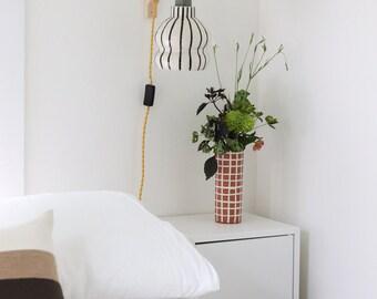 Matte Grid Vase