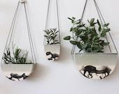 Half Moon Hanging Planter - Seafoam
