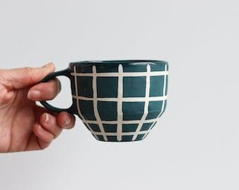 Matte Grid Mug