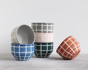 Matte Grid Bowl