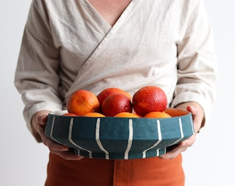 Pinstripe Serving Platter