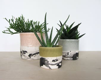 Small Round Planter - Splatter - Made to Order