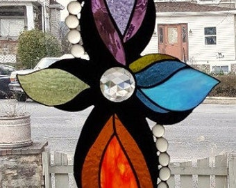 SIMPLICITY  Stained Glass Window Panel©