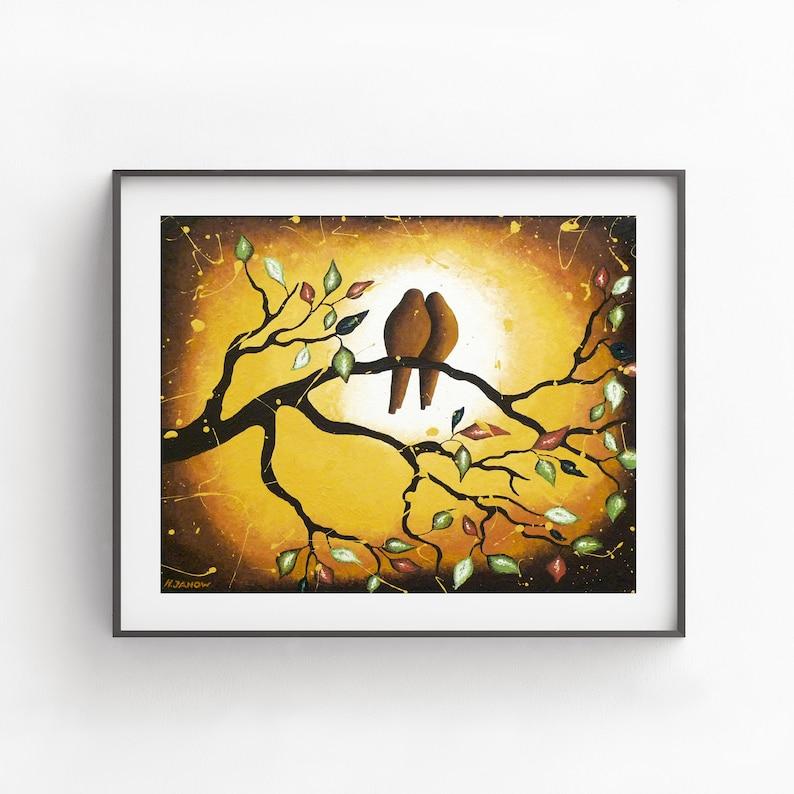 Love Birds Wall Art Print Farmhouse Decor  Rustic Country image 0