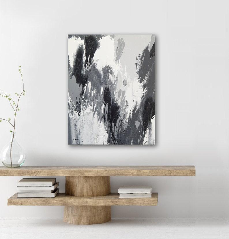 Abstract Painting Modern Canvas Wall Art Gray Wall Decor image 0