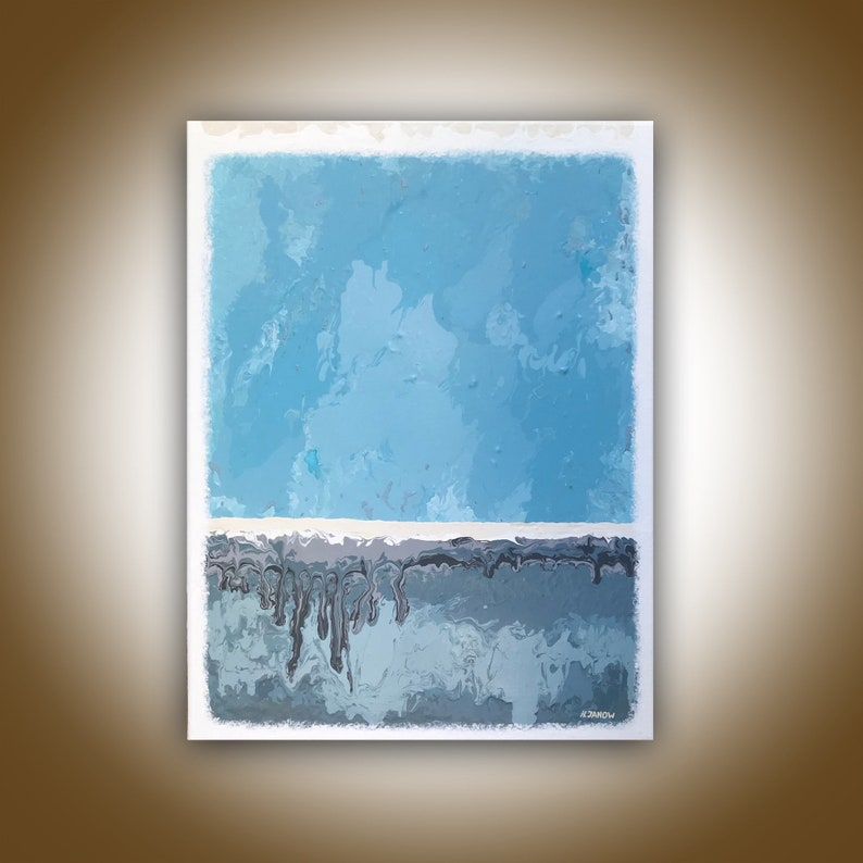 Blue Abstract Painting Rothko Inspired Minimalist Art image 0