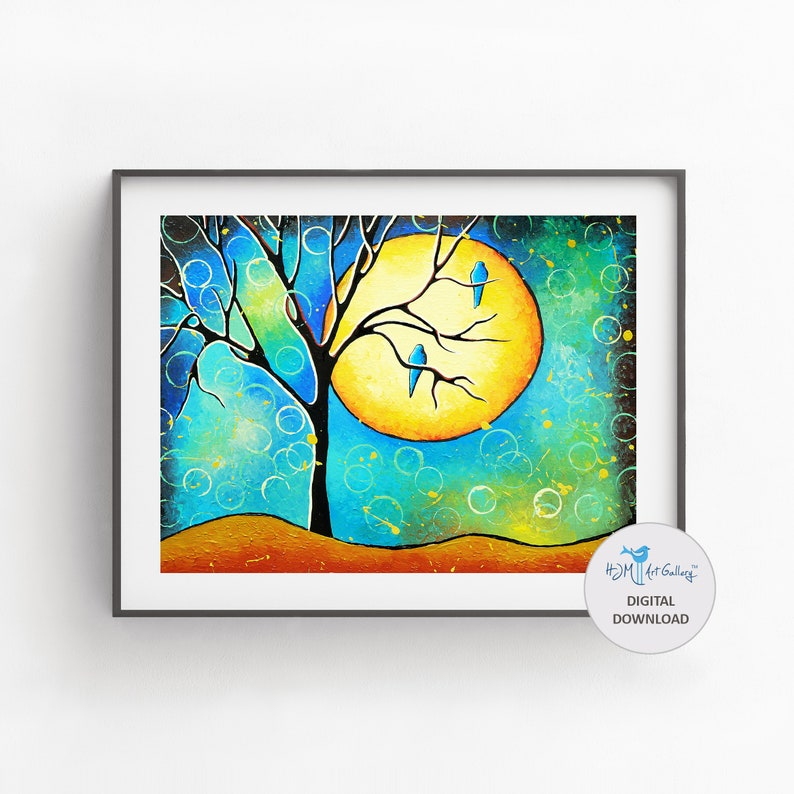 Whimsical Tree of Life Digital Download Printable Art Instant image 0
