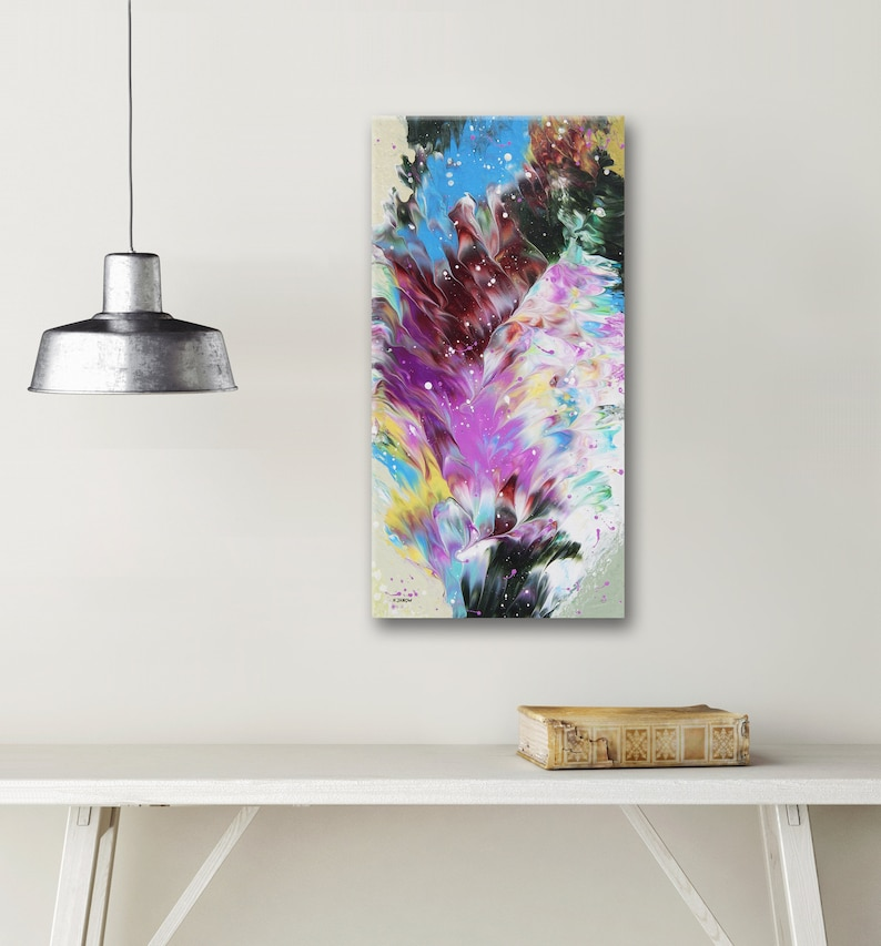 Acrylic Pour Painting Abstract Wall Art Original Artwork image 0