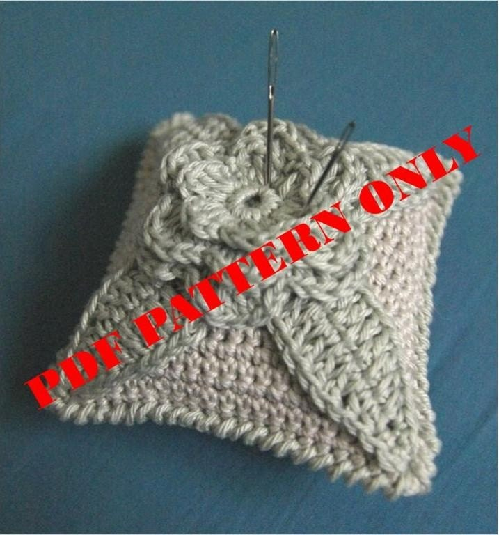 Pdf Crochet Pattern Crochet Pincushion In Pastel Tones Etsy
