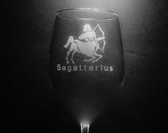 Sagattarius Wine Glass