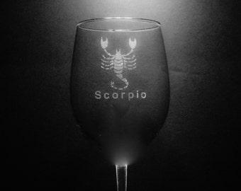 Scorpio Wine Glass
