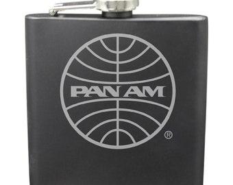 PanAm Shot & 6 Ounce Flask Set