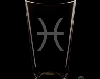 Pisces 16 Ounce Pint Glass