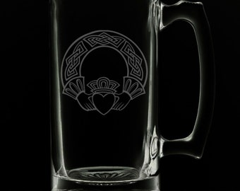 Claddagh 25 Ounce Beer Mug (Also Available in 16oz & 12oz)