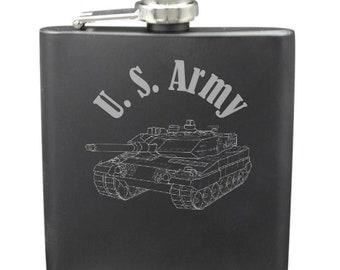 Army Shot & 6 Ounce Flask Set