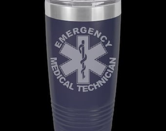 Emergency Medical Technician 20 Ounce Personalized Tumbler.