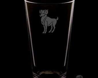 Aries Pint Glass.
