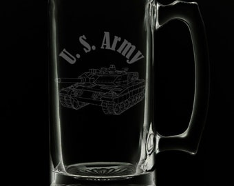 United States Army 25 Ounce Beer Mug (Also Available in 16oz & 12oz)