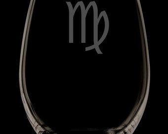 Virgo Wine Glass.