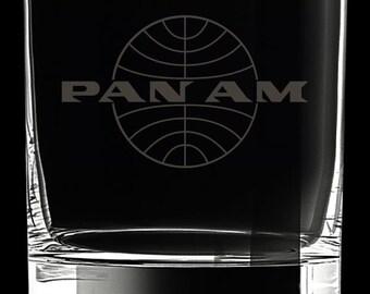 Pan Am 10 Ounce Rocks Glass