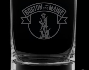 Boston And Maine Railroad 13 Ounce Rocks Glass