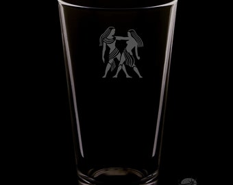 Gemini 16 Ounce Personalized Pint Glass
