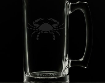 Cancer 25 Ounce Personalized Beer Mug