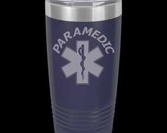 Paramedic 20 Ounce Personalized Tumbler.